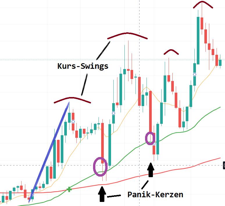 Swing Trading lernen für Anfänger - Panikmuster Einstiegs-Strategie auf Tagesbasis